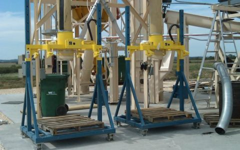Twin Automated Bag Fillers used to Fill Super Sacks